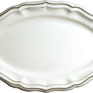 Gien Filet Taupe Oval Platter