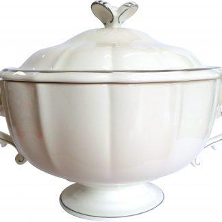 Gien Filet Taupe Soup Tureen