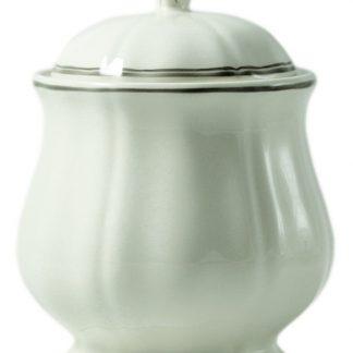 Gien Filet Taupe Sugar Bowl