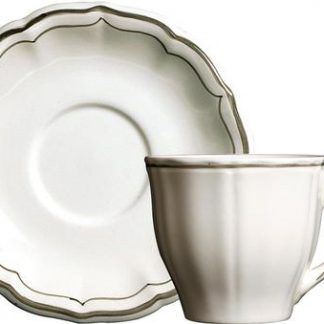 Gien Filet Taupe Tea Saucer