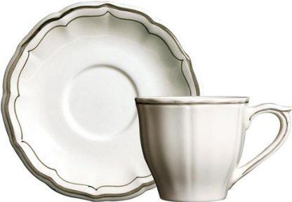 Gien Filet Taupe Tea Saucer