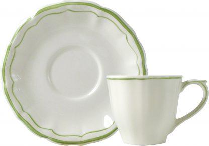 Gien Filet Vert Tea Cup