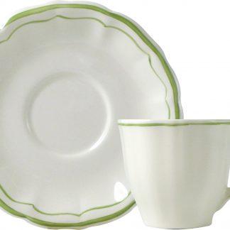 Gien Filet Vert Tea Saucer