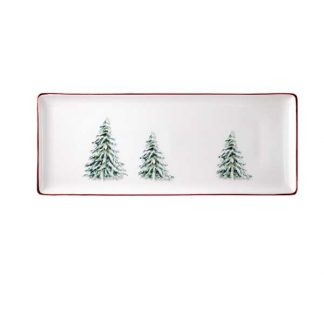 Gien Filets Noel Oblong Serving Tray