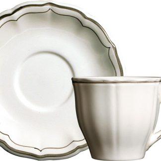 Gien Filets Taupe Tea Cup