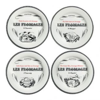 Gien Gastronomie Cheese Plates Large Assorted Set Of 4