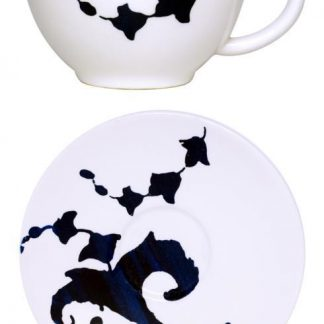 Gien Indigo Tea Cup And Saucer