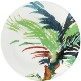Gien Jardins Extraordinaires Vegetal Canape Plate - Green