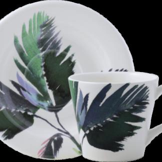 Gien Jardins Extraordinaires Vegetal Tea Cup And Saucer