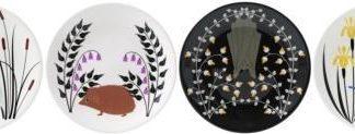 Gien Le Secret Canape Plates - Set Of 4 Assorted