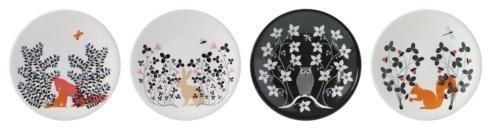 Gien Le Secret Dessert Plates - Set Of 4 Assorted