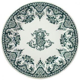 Gien Les Depareillees Monogramme Dinner Plate