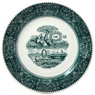 Gien Les Depareillees Rebus Dinner Plate