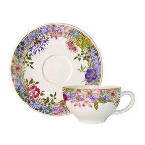 Gien Millefleurs Breakfast Cup And Saucer