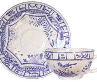 Gien Oiseau Bleu Breakfast Saucer