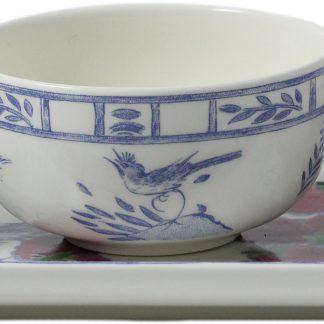Gien Oiseau Bleu Dipping Bowl