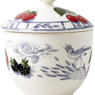 Gien Oiseau Bleu Fruits Sugar Bowl
