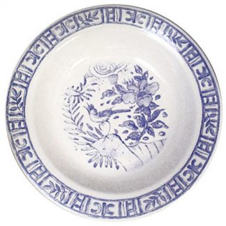 Gien Oiseau Bleu Round Deep Dish