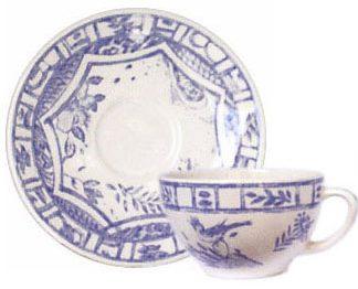Gien Oiseau Bleu Tea Cup