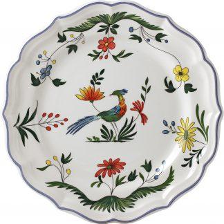 Gien Oiseaux De Paradis Dessert Plate
