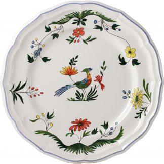 Gien Oiseaux De Paradis Dinner Plate