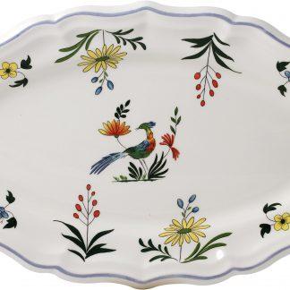 Gien Oiseaux De Paradis Oval Platter Size 4