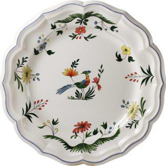 Gien Oiseaux De Paradis Round Deep Dish Size 6