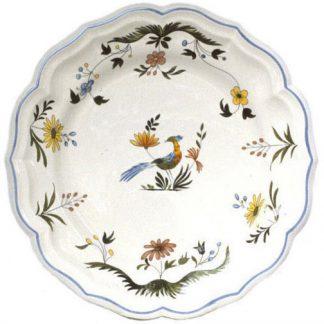 Gien Oiseaux De Paradis Round Flat Dish Size 6