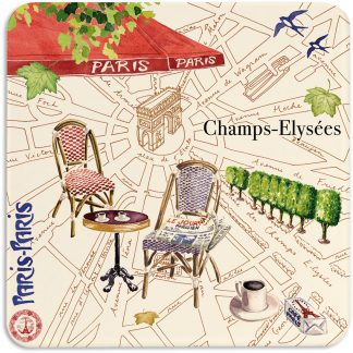 Gien Paris Paris Acrylic Coasters Set Of 4