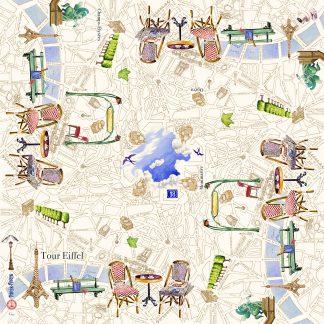 Gien Paris Paris Tablecloth