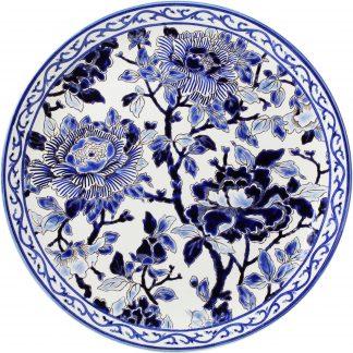 Gien Pivoines Bleues Cake Platter Pivoines Bleues