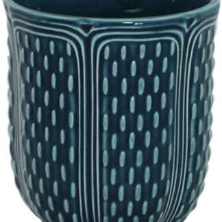 Gien Pont Aux Choux Tea Cup Ocean Blue