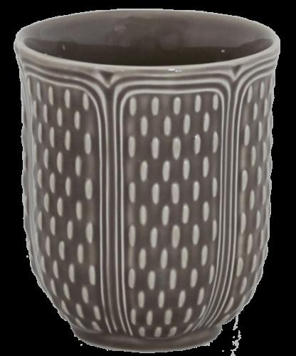 Gien Pont Aux Choux Tea Cup Taupe