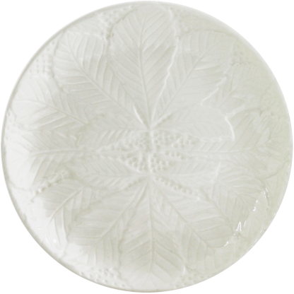 Gien Reliefes Canape Plates White
