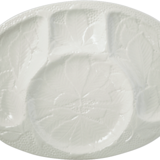 Gien Reliefes Cocktail Platter White