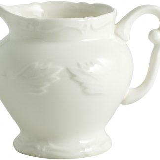 Gien Rocaille Blanc Creamer White
