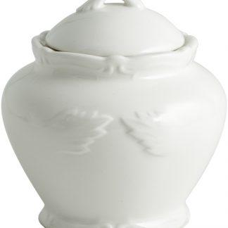 Gien Rocaille Blanc Sugar Bowl White