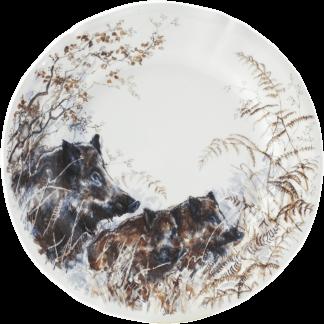 Gien Sologne Dessert Plate - Boar