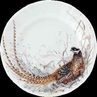 Gien Sologne Dessert Plate - Pheasant