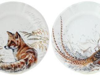 Gien Sologne Dessert Plates - Set Of 4 Assorted