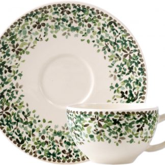 Gien Songe Tea Cups Saucers Set Of 2