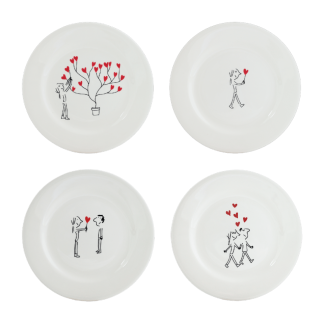 Gien The Lovers Dessert Plate