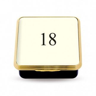 Halcyon Days 18 Contemporary Number Deep Base Box Ivory