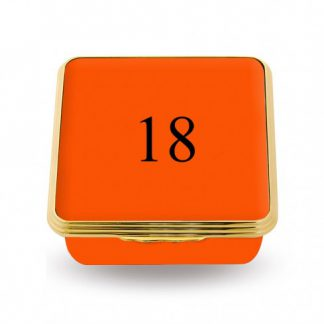 Halcyon Days 18 Contemporary Number Deep Base Box Orange