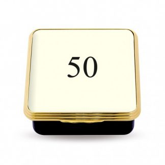 Halcyon Days 50 Contemporary Number Deep Base Box Ivory