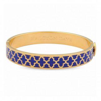 Halcyon Days Agama Deep Cobalt & Gold Bangle