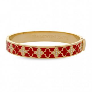 Halcyon Days Agama Sparkle Red & Gold Bangle