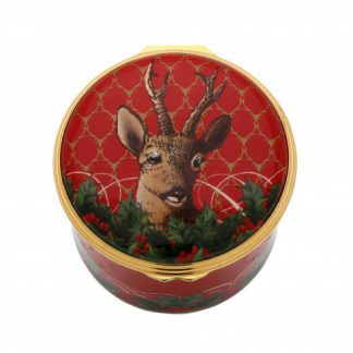 Halcyon Days Antler Trellis & Stag Musical Box