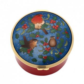 Halcyon Days Christmas Robin Musical Box