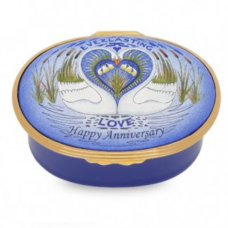 Halcyon Days Everlasting Love Happy Anniversary Musical Box